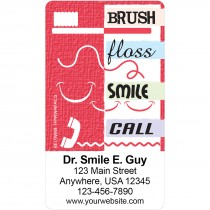 Brush Floss Smile Call Magnets