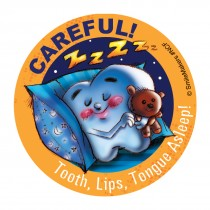 Careful Asleep Stickers