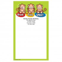 Brush Floss Smile Monkey Notepads