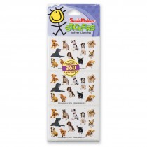 Fun Shapes Dogs Stickers