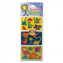 Fun Shapes Glitter Dinosaurs Stickers