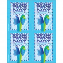 Brush Twice Daily Laser Cards