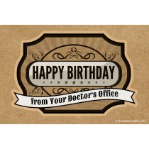 Happy Birthday from Dr. Office Recall Cards