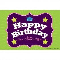 Happy Birthday Brackets Recall Cards