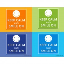 Keep Calm and Smile On Laser Cards