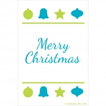 Merry Christmas Blue & Green Recall Cards