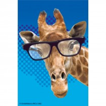 Giraffe with Glasses Recall Cards