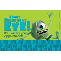 Monsters, Inc. Eye Appointment Recall Cards