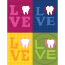 Assorted Love Tooth Laser Cards