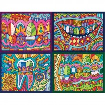 Assorted Dental Modern Art Laser Cards