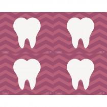 Purple Chevron Tooth Laser Recall Cards