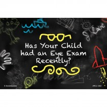Custom Chalkboard Kids Doodle Eye Exam Recall Cards