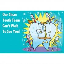 Clean Teeth Team Recall Cards