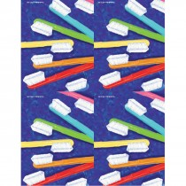 Painted Toothbrushes Laser Cards
