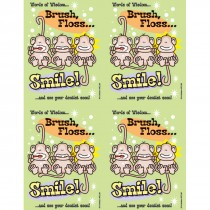 Brush Floss Smile Monkey Laser Cards