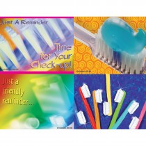 Assorted Bright Toothbrush Laser Cards