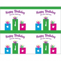 Happy Birthday Presents Laser Cards