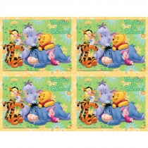 Disney Pooh Smiles Bloom Laser Card