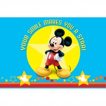 Mickey Mouse Star Smile Laser Cards