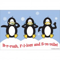 Brush Floss Smile Penguins Recall Cards