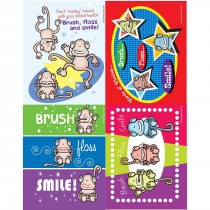 Brush, Floss, Smile Monkeys Laser Cards