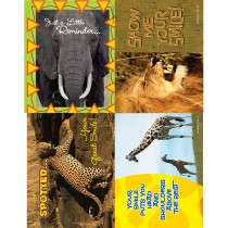 Assorted Jungle Smiles Laser Cards
