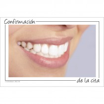Spanish Smile Appointment Confirmation Recall Cards
