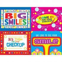 Retro Smile Laser Cards