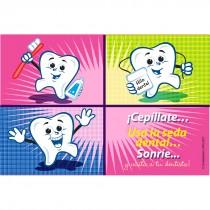 Spanish Cartoon Tooth Recall Cards
