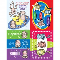 Spanish Brush Monkeys Laser Cards