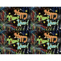 Happy New Year Laser Cards