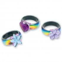 Rainbow Laser Rings