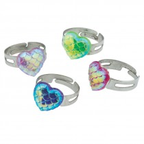 Iridescent Heart Rings