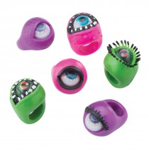 Rubber Moving Eyeball Rings
