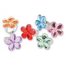 Flower Gem Rings