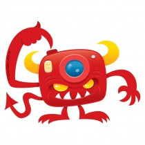 Camera Monster Re-Stickable Stickers