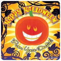 Dental Halloween Pumpkin Stickers