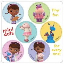 Doc McStuffins Mini Dot Stickers