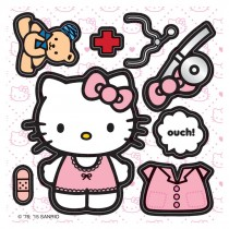 Make Your Own™ Hello Kitty Doctor Stickers