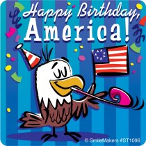 Happy Birthday USA Stickers