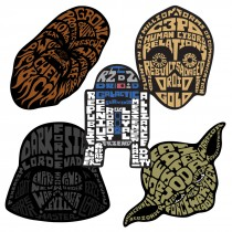 Star Wars Classic Shaped Stickers