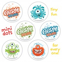 Germ Squad Mini Dot Stickers