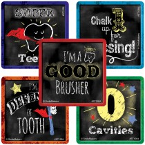 Chalk Style Tooth Stickers