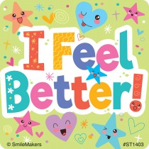 I Feel Better Stickers