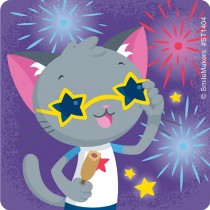 Patriotic Cats Stickers