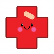 Medical Cross Emoji Shaped Stickers