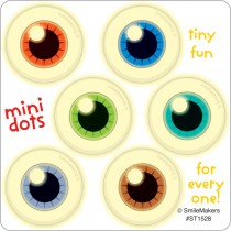 Glow in the Dark Eyeball Mini Dot Stickers