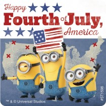 Minions 4th of July Stickers