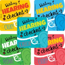Hearing Tested Stickers