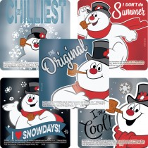 Frosty the Snowman Classic Foil Stickers